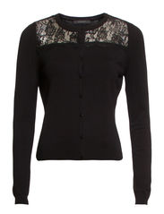 Sweaters cardigan - BLACK