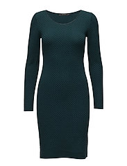 Dresses flat knitted - DARK TEAL GREEN
