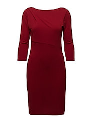 Dresses knitted - DARK RED