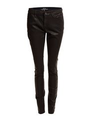Denim Pants - BLACK LEATHER