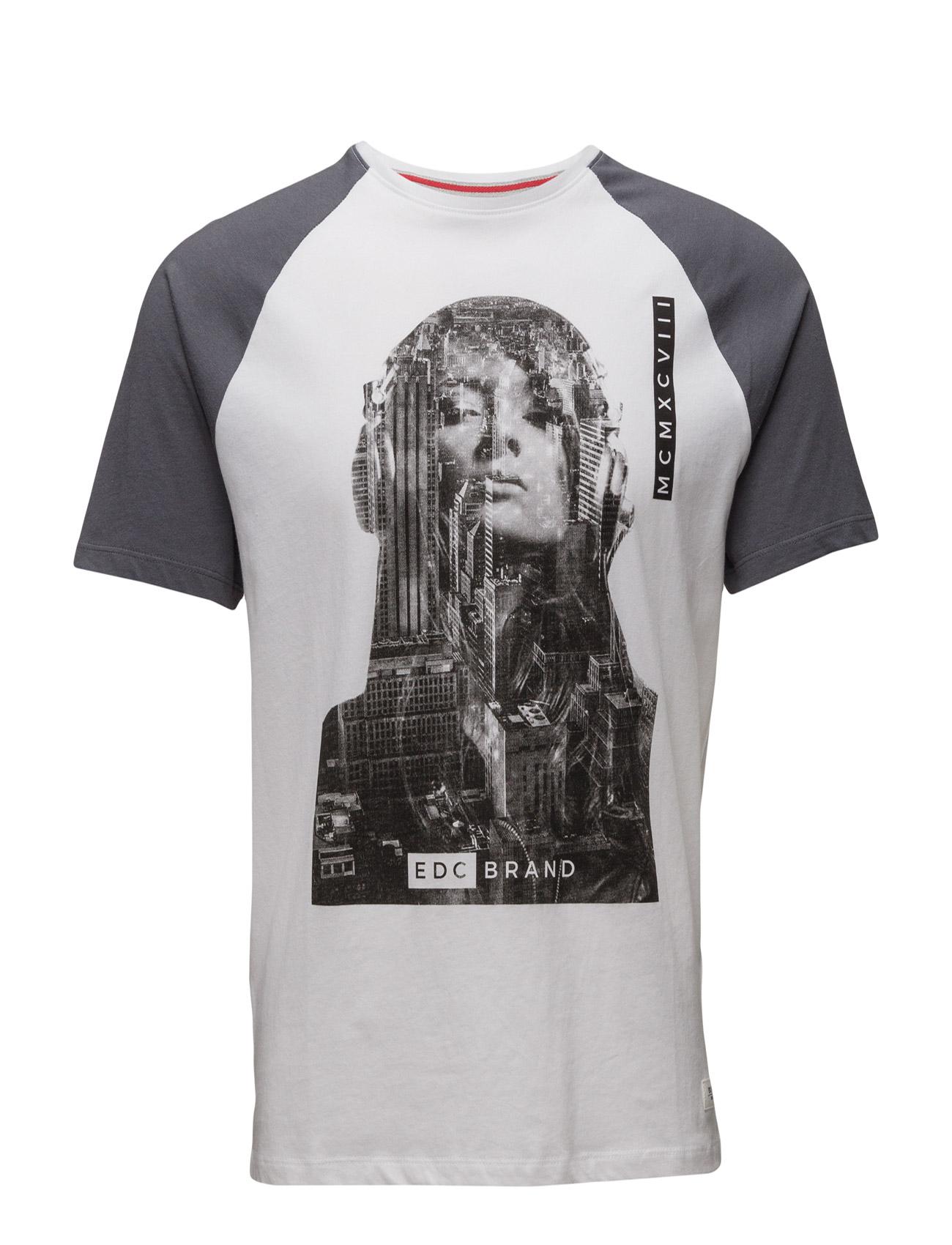 T-Shirts EDC by Esprit Kortærmede til Mænd i hvid