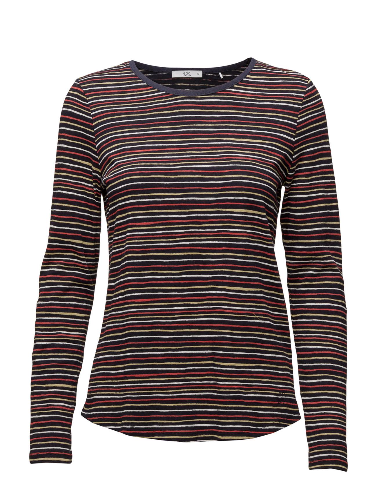 T-Shirts EDC by Esprit Langærmede til Damer i Navy blå
