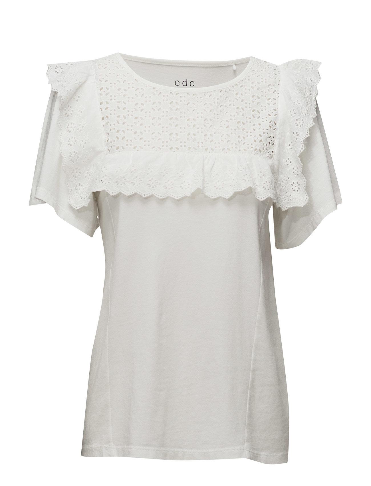 T-Shirts EDC by Esprit Kortærmede til Damer i Off White