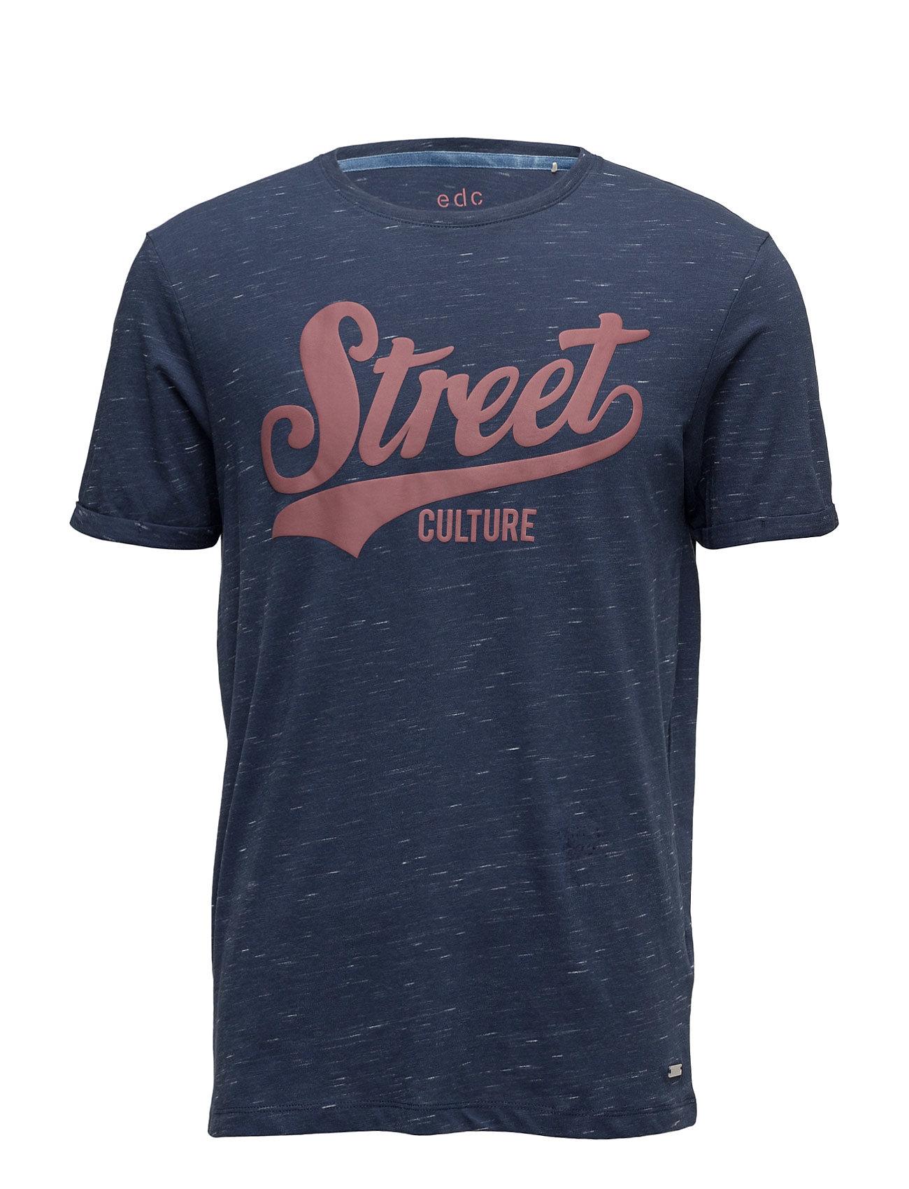 T-Shirts EDC by Esprit Kortærmede til Herrer i Navy blå