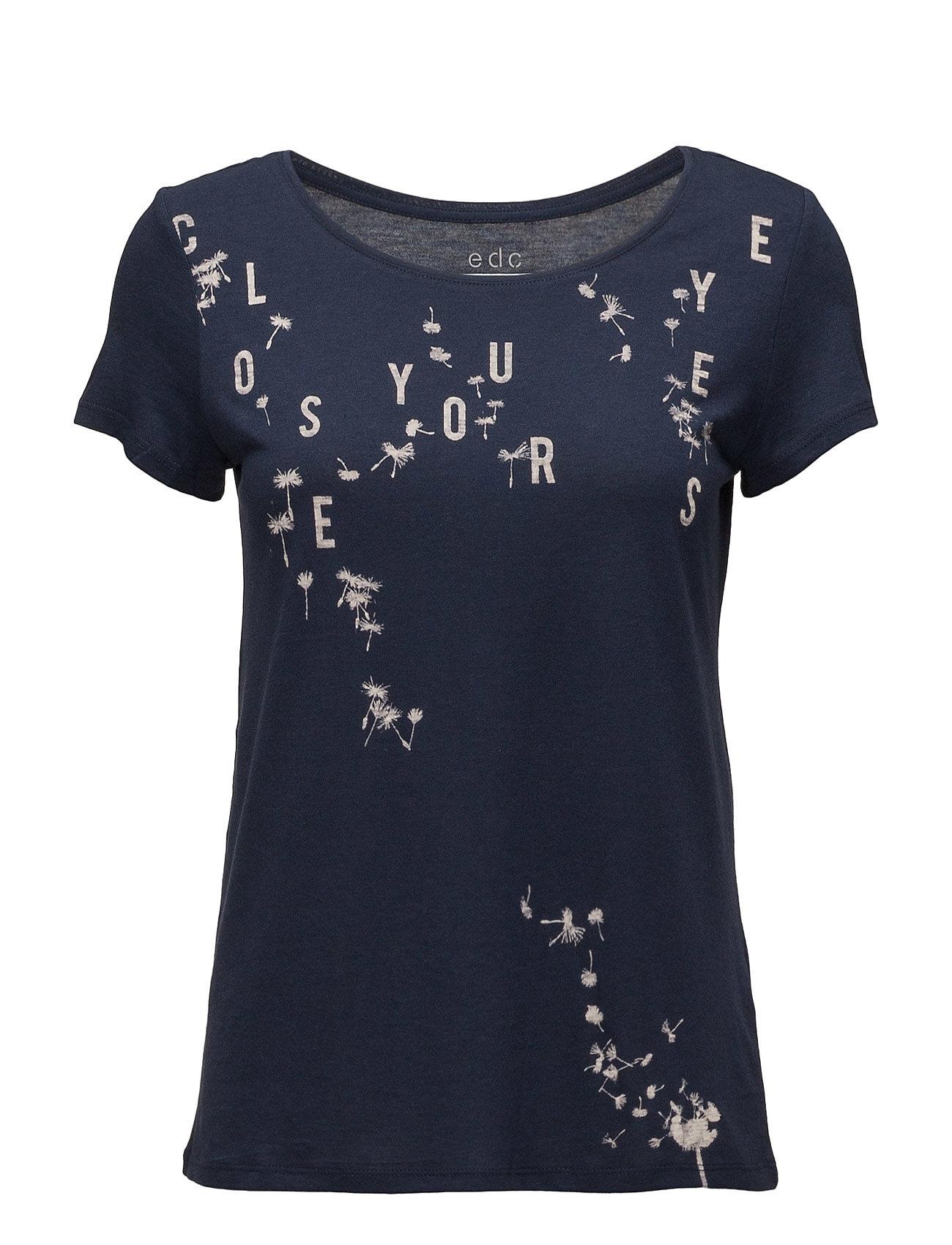 T-Shirts EDC by Esprit Kortærmede til Damer i Navy blå