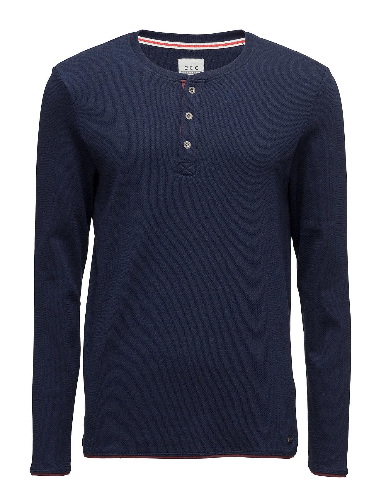 T-Shirts EDC by Esprit Langærmede til Herrer i Navy blå