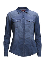 Blouses denim - C MEDIUM BLUE