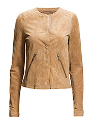 Jackets outdoor leather - CW BEIGE