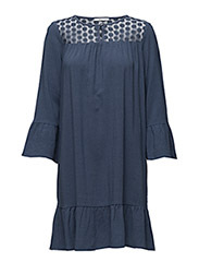Dresses light woven - GREY BLUE