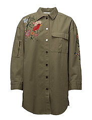 Jackets indoor woven - KHAKI GREEN