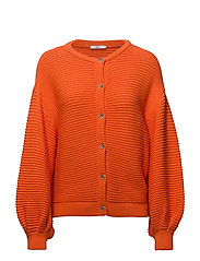 Sweaters cardigan - BRIGHT ORANGE