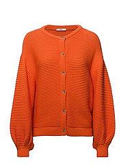 Sweaters cardigan - BRIGHT ORANGE
