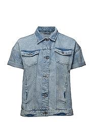 Vests outdoor denim - BLUE BLEACHED
