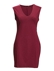 Dresses knitted - BORDEAUX RED