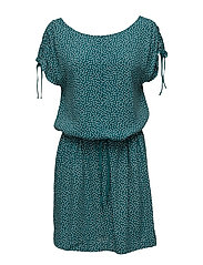 Dresses light woven - TEAL BLUE