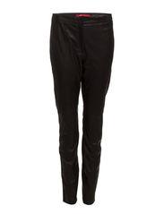 Pants leather - BLACK