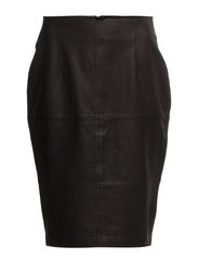 Skirts leather - BLACK