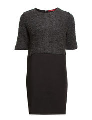 Dresses knitted - BLACK COLORWAY