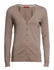 Sweaters cardigan - MUDDY BROWN MELANGE