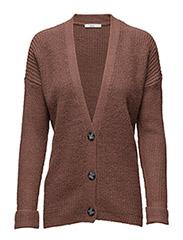 Sweaters cardigan - DARK MAUVE