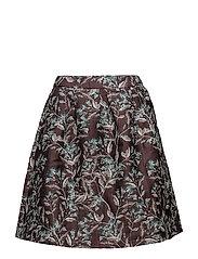 Skirts woven - AUBERGINE