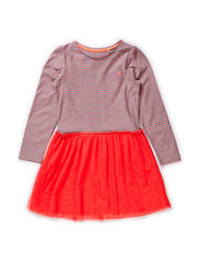Dresses knitted - CORAL RED
