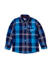 Shirts woven - DOLPHIN BLUE