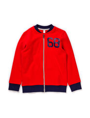 Sweatshirts cardigan - FLASHY RED