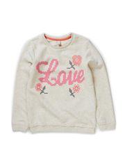 Sweatshirts - WHITE SAND MELANGE