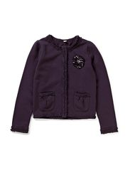 Sweatshirts cardigan - NIGHT SHADE PURPLE