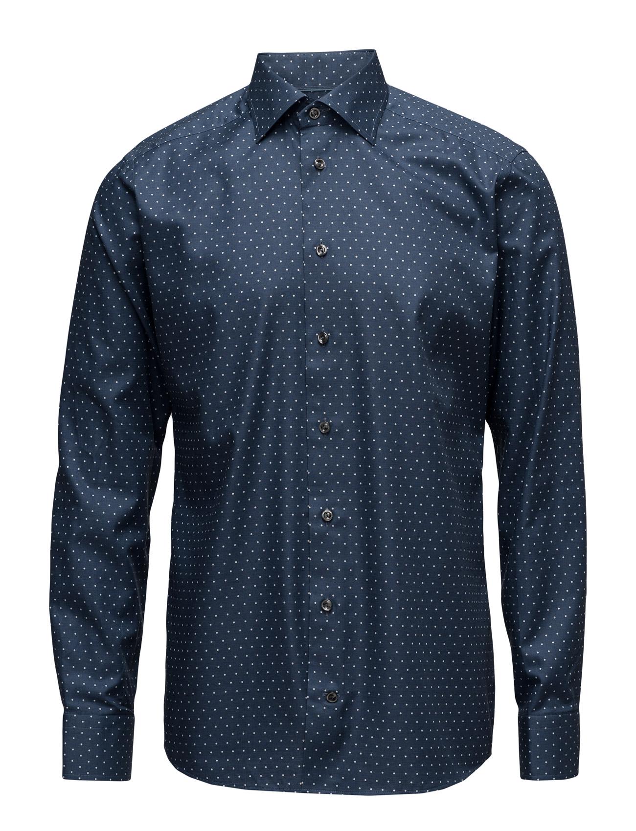 Cambridge-Collection-Slim Fit Eton Business til Mænd i Blå