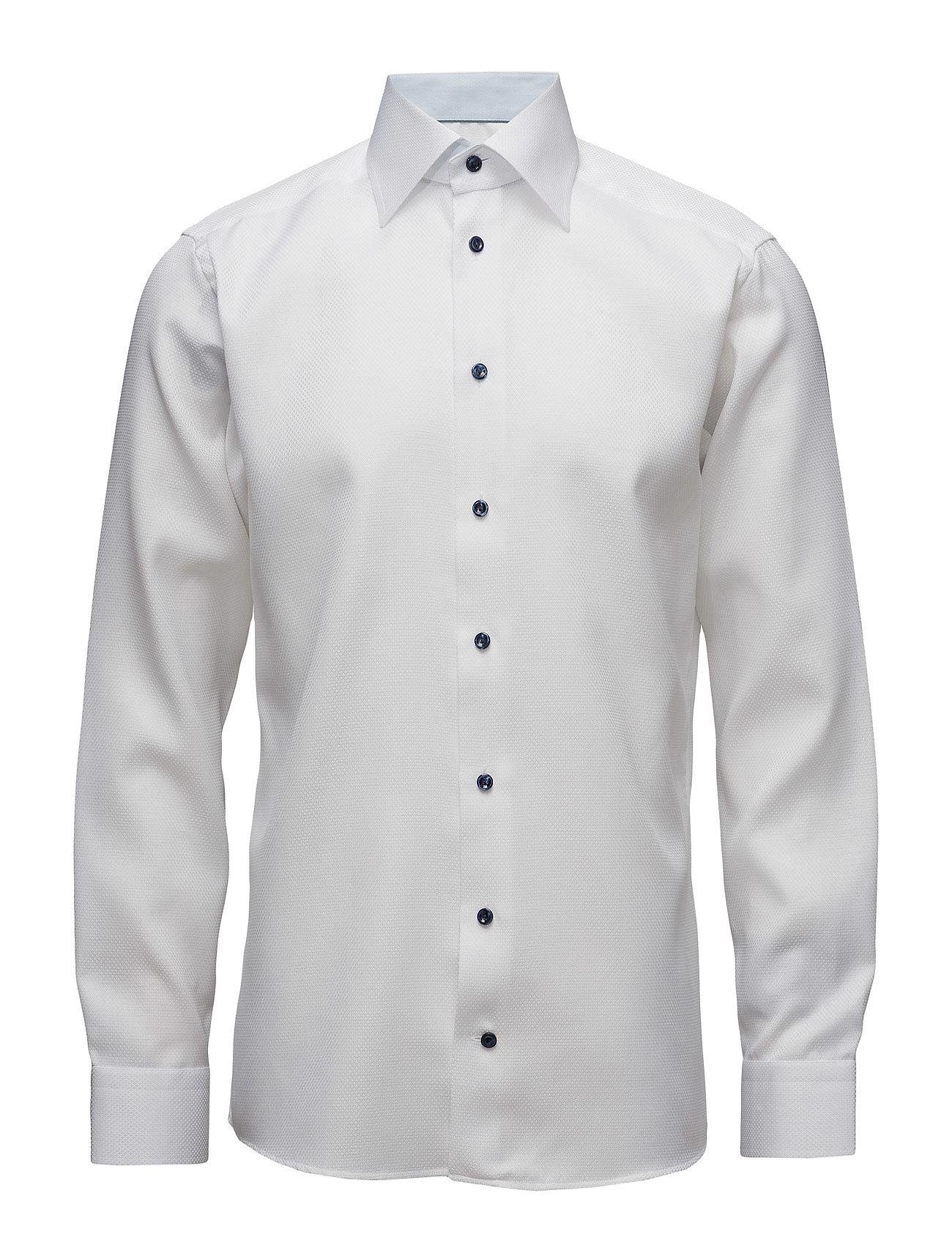 Signature Twill-Slim Fit Eton Business til Herrer i hvid