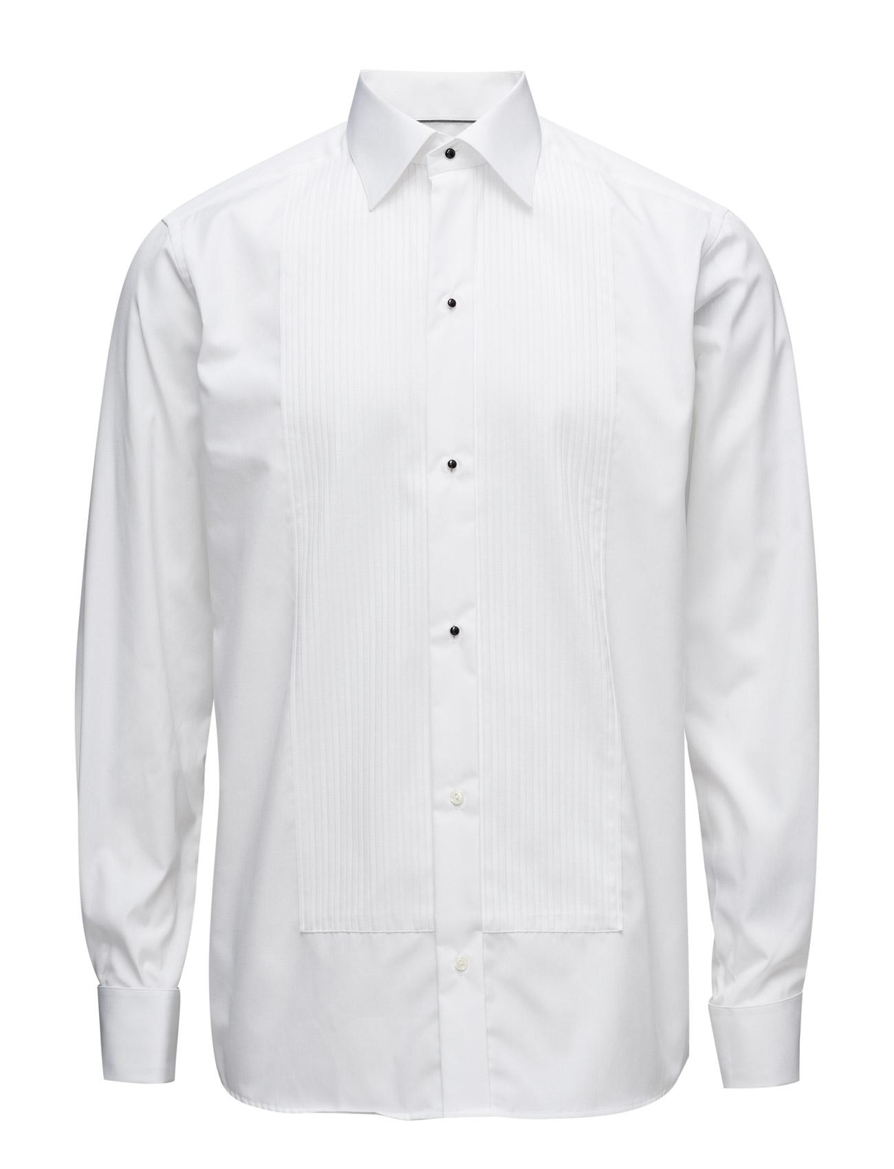 Savoy-Evening-Contemporary Fit Eton Skjorter til Mænd i hvid