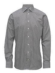 Polka Dots Print Shirt - WHITE