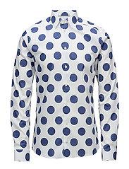 Bold Polka Dots Print Shirt - BLUE