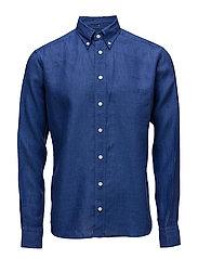Blue Linen Shirt - BLUE