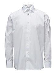 White Shirt – Palm Print Details - WHITE