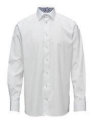 White Shirt - Palm Print Details - WHITE