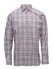 Multi Colour Check Shirt - PINK/RED