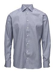 Striped French Cuff Shirt - BLUE