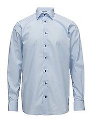 Sky Blue Shirt - Navy Buttons - BLUE