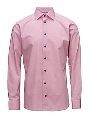 Pink Shirt - Navy Buttons - PINK/RED