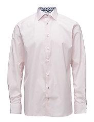 Pink Check Shirt - Palm Print Details - PINK/RED