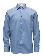 Blue Shirt - Micro Print Detail - BLUE