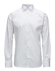 White Shirt - Micro Print Detail - WHITE