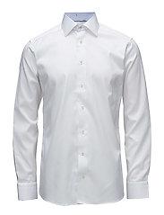 White Shirt - Banana Jacquard Details - WHITE