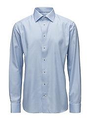 Blue Twill Shirt - Navy Details - BLUE