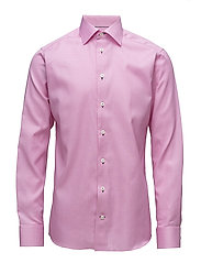 Pink Twill Shirt - Navy Details - PINK/RED