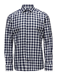 Bold Gingham Check Shirt - WHITE