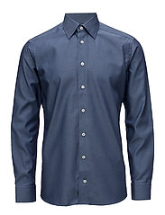Navy Pinpoint Button-Under Shirt - BLUE